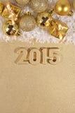 2015 rok złote postacie Zdjęcia Stock