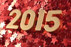 2015 rok złote postacie Fotografia Stock