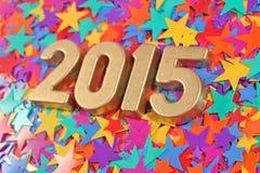 2015 rok złote postacie Obrazy Royalty Free