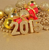 2015 rok złote postacie Zdjęcia Royalty Free
