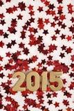 2015 rok złote postacie Obraz Stock