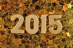 2015 rok złote postacie Fotografia Royalty Free
