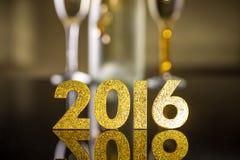 2016 rok złote postacie Zdjęcie Stock