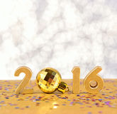 2016 rok złote postacie Zdjęcia Stock