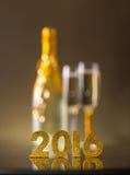 2016 rok złote postacie Obrazy Stock