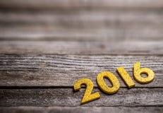2016 rok złote postacie Obraz Stock