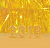 2018 rok złote postacie Fotografia Stock