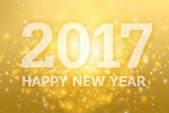 Rok 2017 z złocistym tłem Obrazy Stock