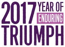 2017 rok Znosić Triumph Zdjęcia Royalty Free