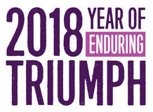 2018 rok Znosić Triumph Fotografia Stock