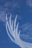 ROKAF T-50 Golden Eagles in formation. At Singapore Airshow 2014 Stock Photography