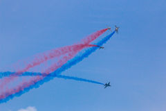 ROKAF T-50 Golden Eagles in formation Royalty Free Stock Images