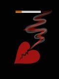 Roken is gevaarlijk aan uw gezondheid Stock Foto's