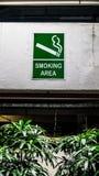 Rokend aangewezen gebiedsteken royalty-vrije stock foto