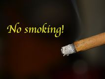 Nr die - roken! stock fotografie