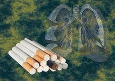 Rokend einde Stock Fotografie