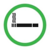 Rokend Gebiedspictogram Sigaretoverzicht en lineair die pictogram op wit wordt geïsoleerd Dit is dossier van EPS10-formaat Rokend Royalty-vrije Stock Fotografie