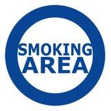 Rokend gebiedsteken in blauw over witte achtergrond Eenvoudig en schoon teken royalty-vrije stock afbeeldingen