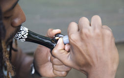 Rokend Onkruid Stock Foto's