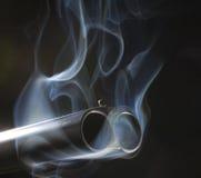 Rokende kanonnen stock fotografie