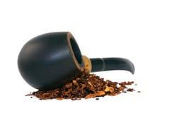 Rokende pijp en tabak Royalty-vrije Stock Foto's