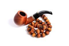 Rokende pijp en van de Rozentuin Parels Royalty-vrije Stock Foto