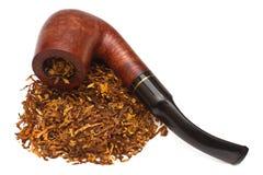 Rokende pijp met tabak Royalty-vrije Stock Foto