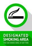 Rokende plaatsaffiche vector illustratie
