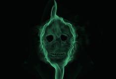 Rokende schedel stock illustratie