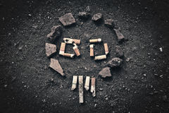 Rokende schedel Stock Fotografie