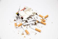 Rokende sigaretten Stock Afbeelding
