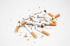 Rokende sigaretten Stock Afbeeldingen