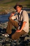 Rokende tabak-pijp Stock Fotografie