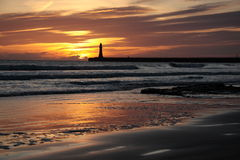 Roker Beach Sunrise Royalty Free Stock Photos