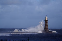 Roker Lighthouse and pier Stock Photos
