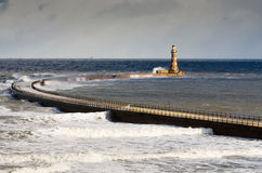 Roker Lighthouse Stock Photography