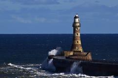 Roker lighthouse - Sunderland. Roker lighthouse built by Henry Hay Stock Image