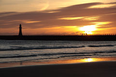 Roker Pier & Lighthouse Royalty Free Stock Images