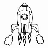 Roket and space background white backgroundcartoon illustration. Roket and space background drawing and white background vector illustration