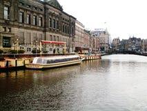 Rokinkanaal in Amsterdam, Holland, Nederland stock fotografie