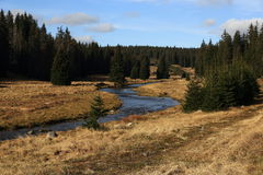 Roklansky torrent, autumn scenery in the vicinity of Modrava, Czech republic Stock Image