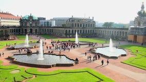 Rokokos Touristenattraktion timelapse Dresdens Royal Palace Zwinger stock video