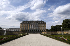 Rokokoschloss von Augustusburg an BrÃ-¼ hl/Germany Stockfotografie