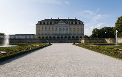 Rokokoschloss von Augustusburg an BrÃ-¼ hl/Germany Stockbilder