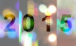 Roku 2015 bokeh Lekki tło Obrazy Stock