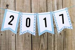 Roku 2017 chorągwiany sztandar Zdjęcie Royalty Free