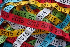 Roku 2015 kolorowy papierowy tło Zdjęcia Royalty Free