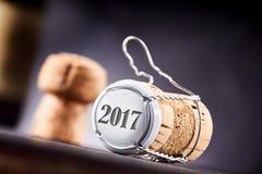 Roku 2017 korek i metal butelki nakrętka Fotografia Royalty Free