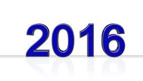 2016 - roku numerowy nowy rok - Zdjęcia Stock