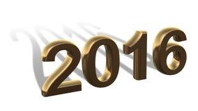 2016 - roku numerowy nowy rok z długim cieniem - Obrazy Royalty Free